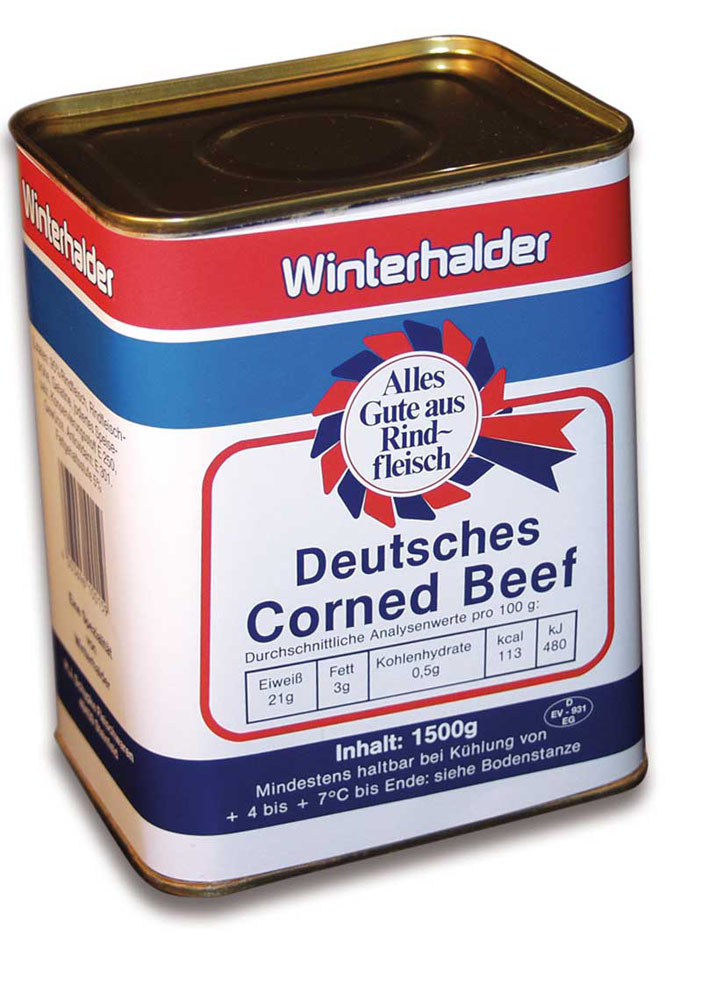 Deutsches Corned Beef 'Winterhalder' 1,5 kg Dose